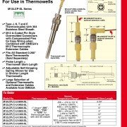 Spring Loaded Thermocouple Sensors with Molded M12 Connectors